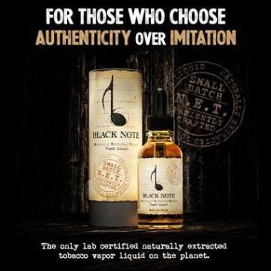 Black Note Naturally Extracted Tobacco Vapor Liquids, Canada