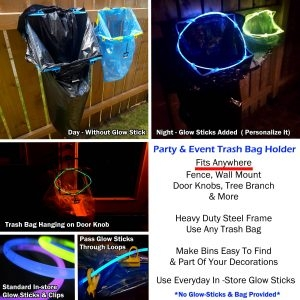 Multi purpose Garbage Bag Holder-BagEZ For Leaf, Yard, Parties, Camping & Events